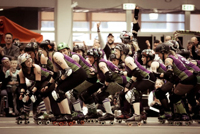 Rockcity Rollers Skate out during Bloed, Skates en Tranen 2015. Picture by Danielle Tempelaars